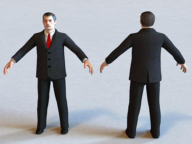 Executive Business Man 3d model
