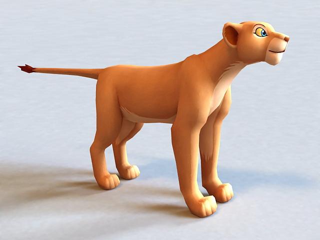 Nala The Lion King Character 3d model 3D Studio,3ds Max,Lightwave