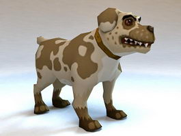 Rigged Cartoon Dog Animation 3d model
