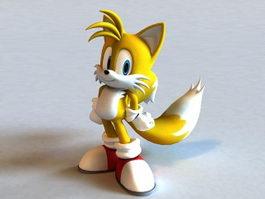 Tails Cartoon Fox 3d model