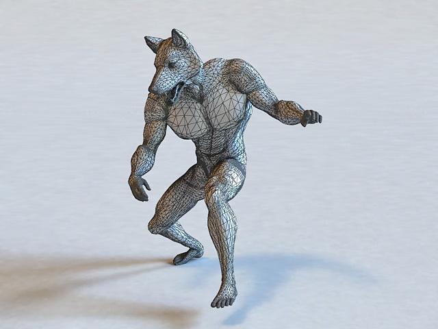Mythical Creatures Werewolf 3d Model 3d Studio 3ds Max