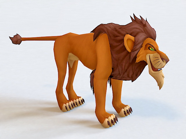 Scar The Lion King Character 3d model