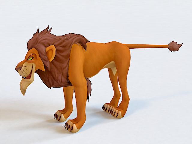 Scar The Lion King Character 3d model 3D Studio,3ds Max,Autodesk FBX