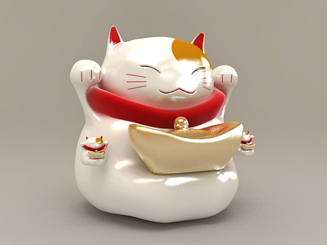 Maneki Neko Fortune Cat 3d model