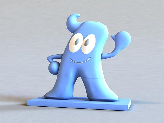 Shanghai Expo Mascot 3d model
