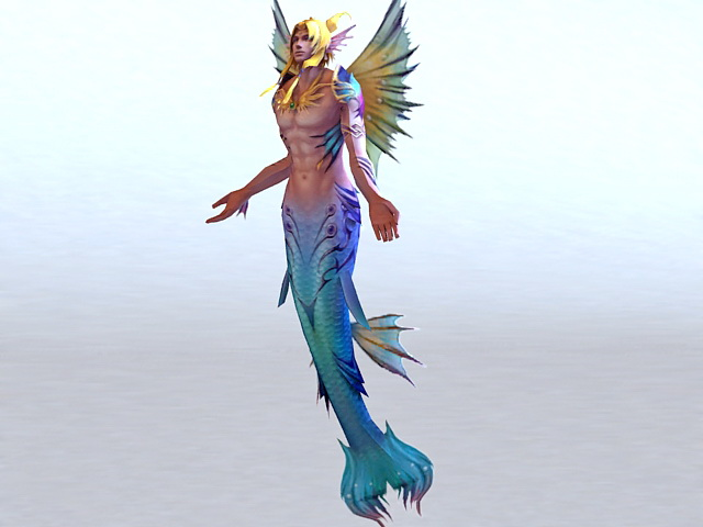 male mermaid 3d model 3ds max files free download