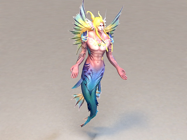 Male Mermaid 3d model