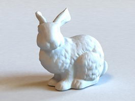 White Rabbit Statue 3d model