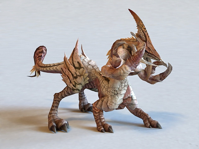 Fantasy monster beast creature 3d model 3ds max files free for Createur 3d