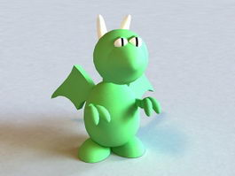 Cartoon Green Dragon 3d model