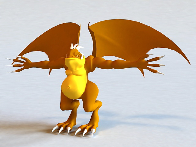 Monster with Wings 3d model