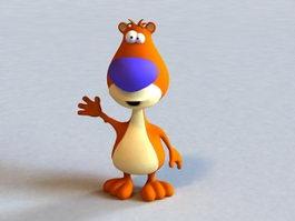 Cartoon Bear Funny 3d model