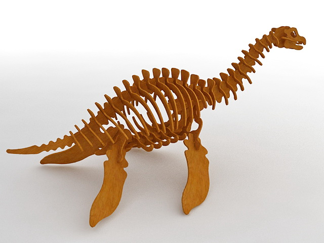 Wooden Toy Dinosaur 3d model