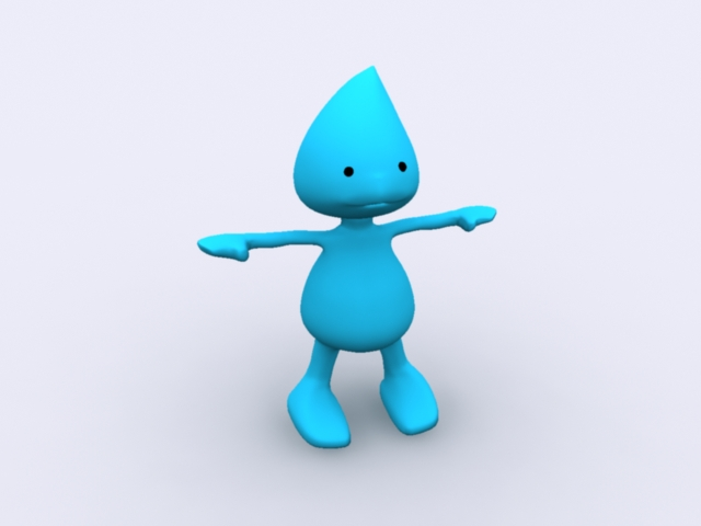 Cartoon Blue People Rigged 3d model