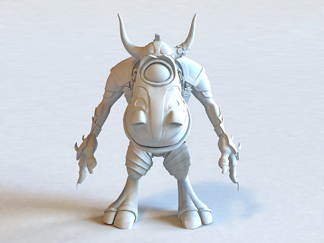 One-eyed Minotaur Monster 3d model
