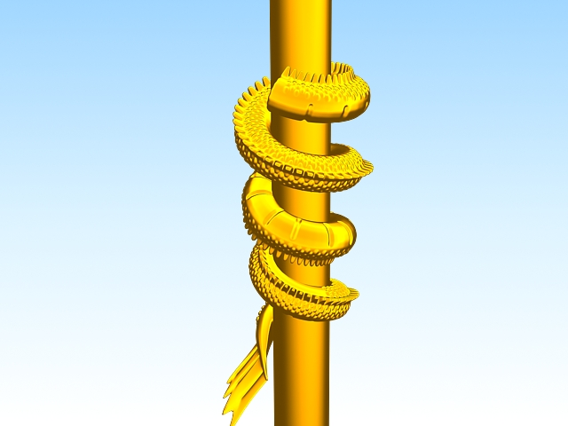 Chinese Dragon Pillar 3d model