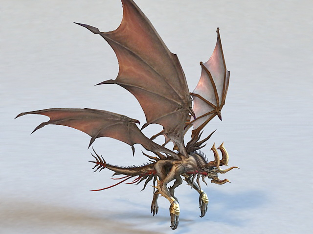 Mutant Dragon Monster 3d model