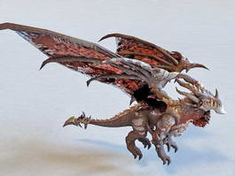 Deathwing Devil Dragon 3d model