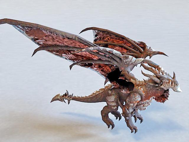 Deathwing Devil Dragon 3d model