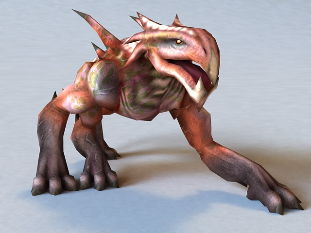Monster Felhound Rigged and Animated 3d model