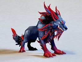 Fantasy Wolf 3d model