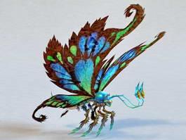 Fantasy Giant Butterfly 3d model