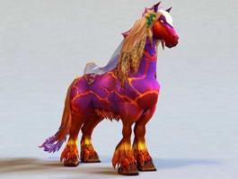 Purple Fantasy Horse 3d model