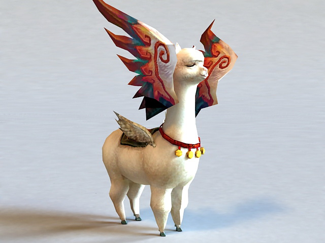 Winged Sheep 3d model