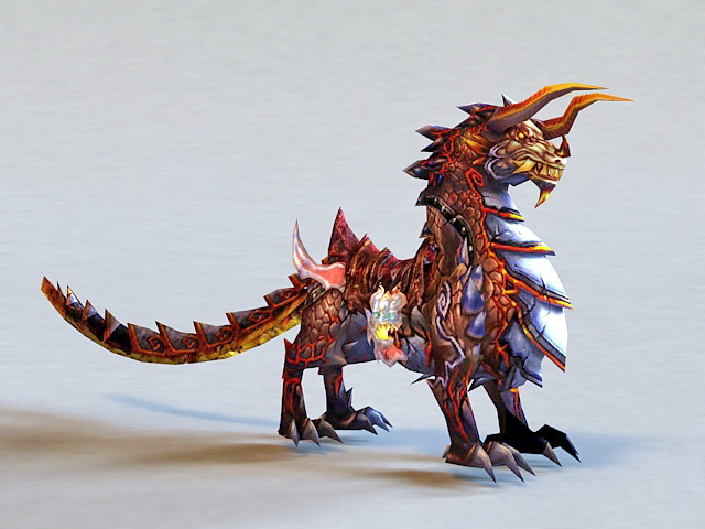 Chinese Qilin Mythical Creature 3d model