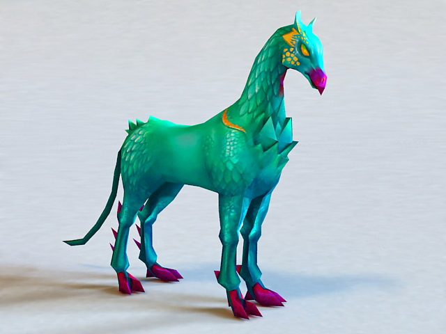 Mythical Horse Creature 3d model