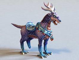 Qilin Mythical Creature 3d model