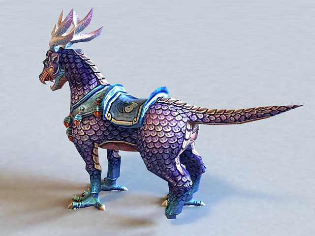 Qilin Mythical Creature 3d Model 3ds Max Files Free
