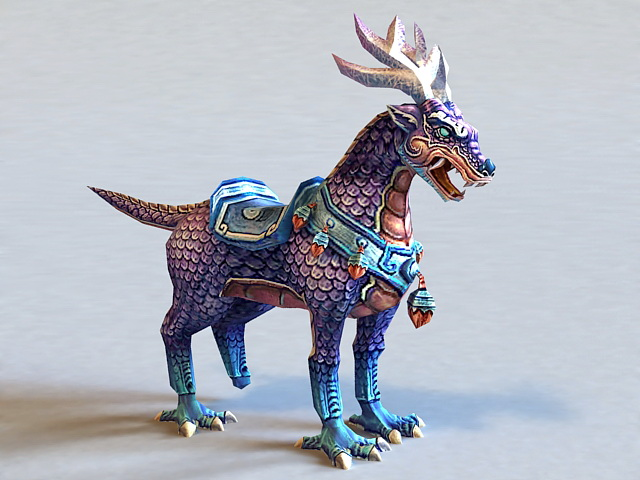 Qilin Mythical Creature 3d model