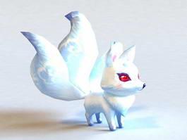 Anime White Fox 3d model