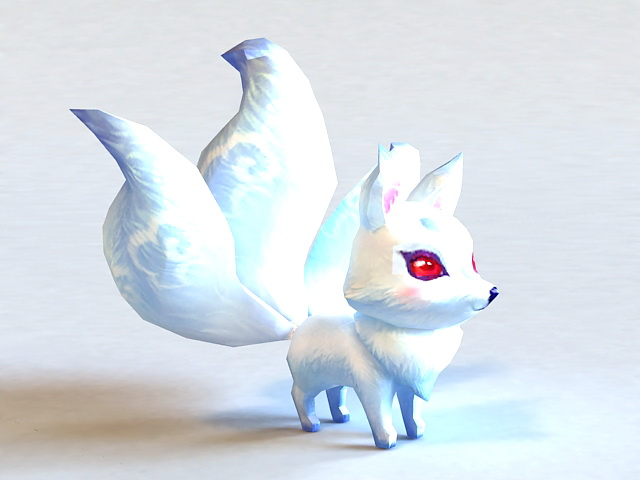 Anime White Fox 3d Model 3ds Max Files Free Download