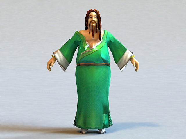 Ancient Chinese Male 3d model