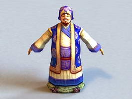 Ancient Wealthy Man 3d model