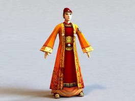 Ancient Chinese Scholar Official 3d model