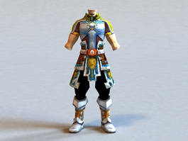 Male Light Armor Set 3d model