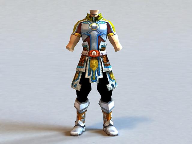 Male Light Armor Set 3d model
