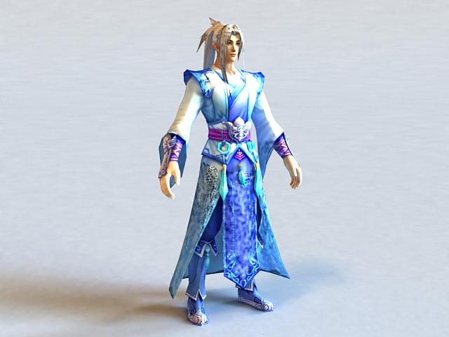 Ancient Chinese Kung Fu Warrior 3d model