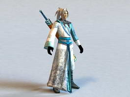 Male Swordsman Concept 3d model