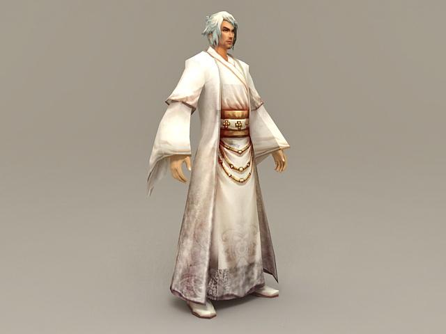 Ancient Chinese Scholar Man 3d model