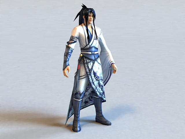 Ancient Chinese Clothing Man 3d model