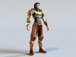 Scale Armor Warrior 3d model