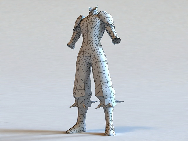 Leather Armor Set 3d rendering