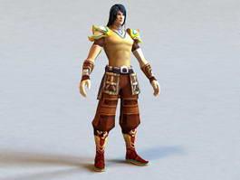 Anime Male Warrior 3d model
