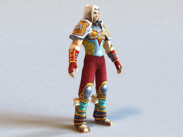 Anime Chinese Warrior 3d model