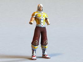 Anime Warrior with No Hands 3d model