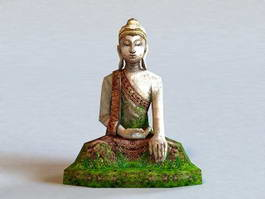 Old Buddha Statue 3d model